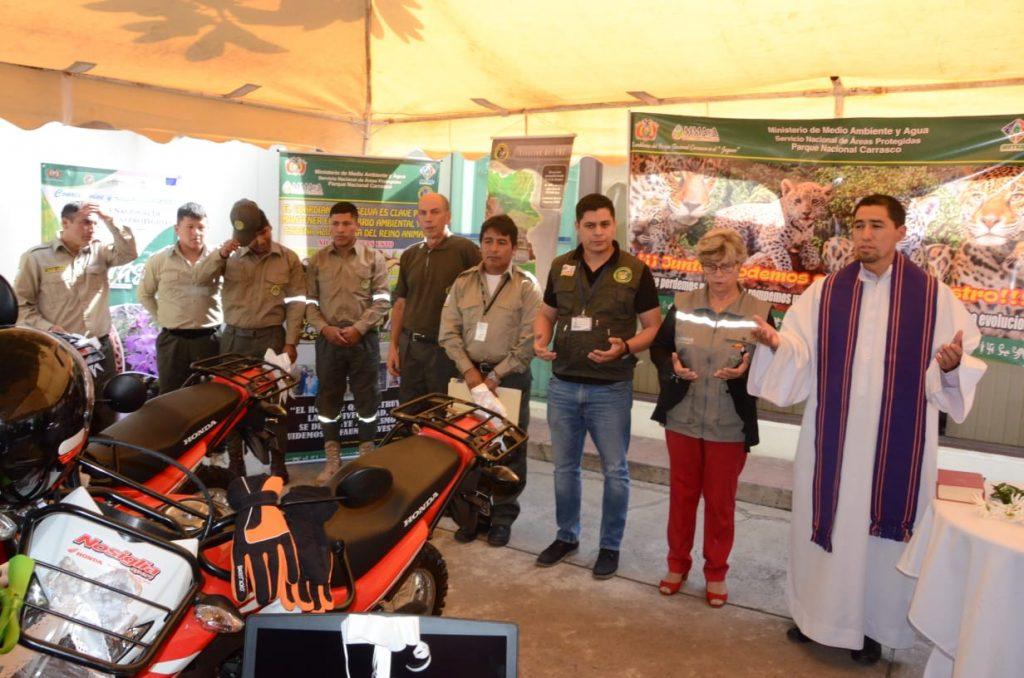 Ceremonia de bendición al equipamiento del Parque Nacional Carrasco