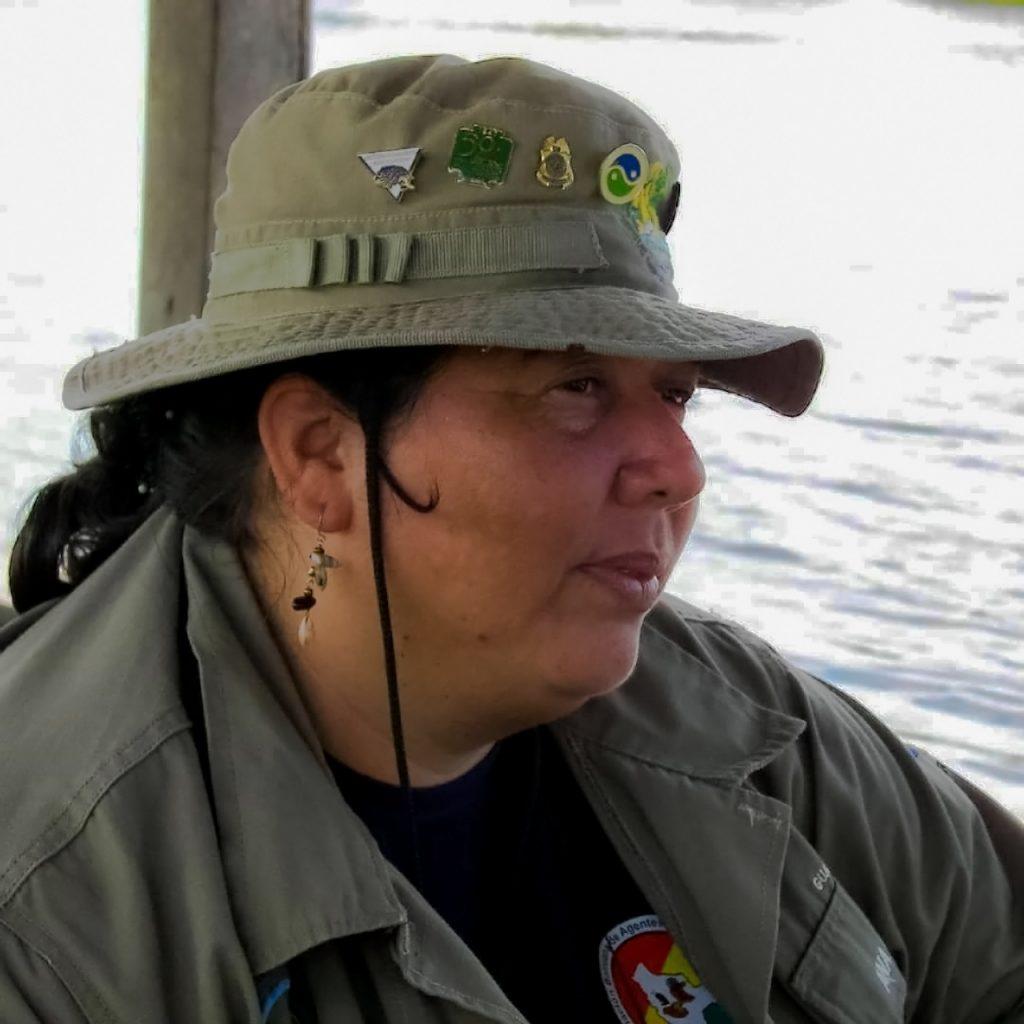 Ana Vaca Salazar realizando monitoreo