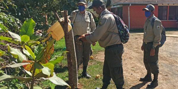 Personal de Parque Nacional Madidi realiza medidas de bioseguridad
