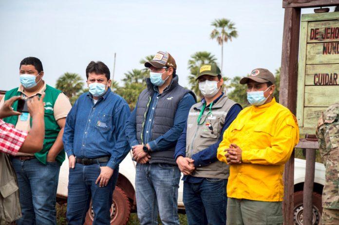 Autoridades en incendio de Otuquis