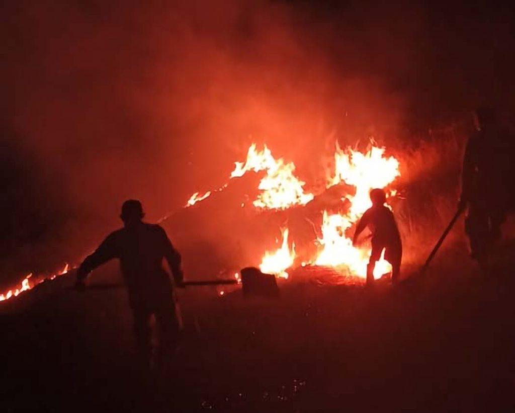 Incendio en Paramarani