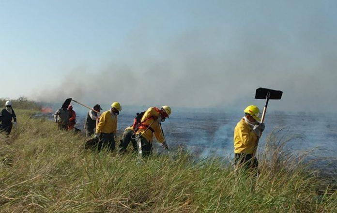 Incendio en el área protegida Otuquis