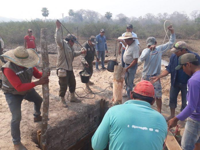 Construcción de norias de agua