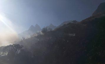 Incendio en Cotapata