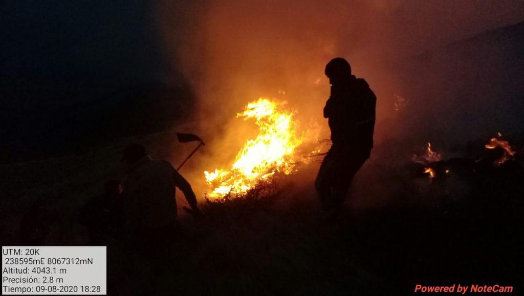 Incendio en Carrasco