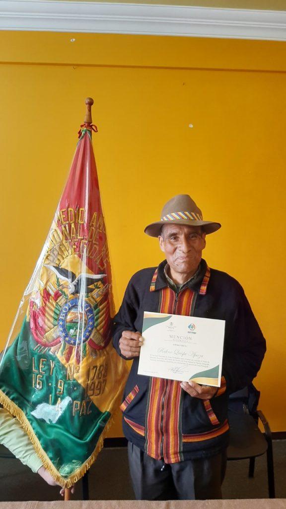 Rufino Quispe Apaza, miembro de Comité de Gestión de ANIMN Apolobamba