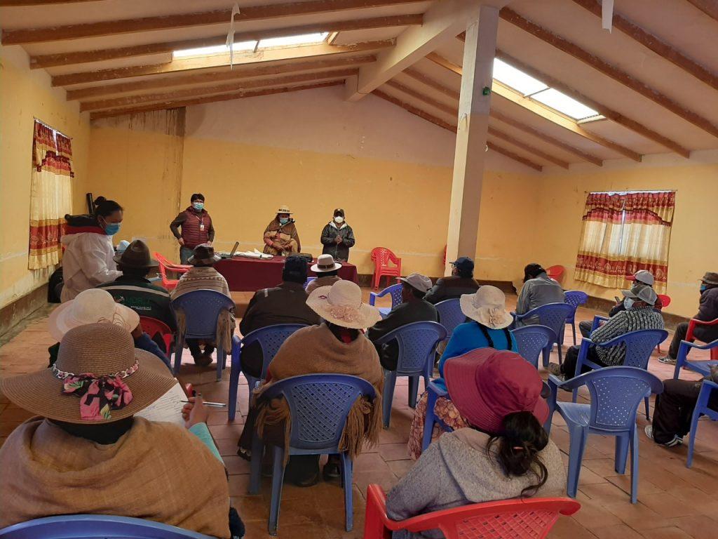 Taller de capacitación de protocolo de bioseguridad en Sajama